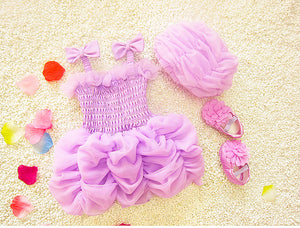 Ruffle Princess Swimsuit w/ Cap
