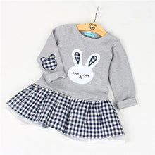 Sweetest Embroidery Bunny Princess Caual Dress