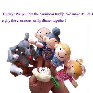8pc Finger Puppets Cartoon Animal Family