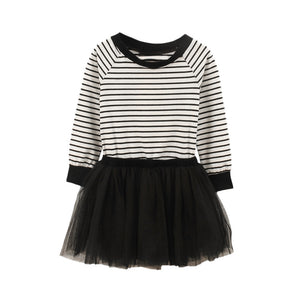 Casual Striped Tutu Dress