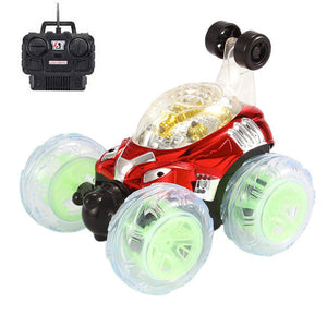 Invincible Tornado Twister Remote Control Truck 360 Degree Spinning Flips LED Color Flash
