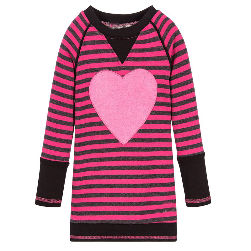 Big Love 2018 Striped Heart Dress