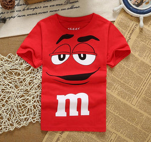 Cotton M&M Kids Casual Cartoon T Shirt