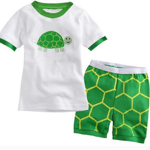 Various Cartoon Print Tee shirt & Short Pants Set