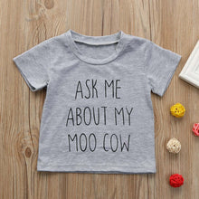 My Moo Cow Letter Printing T-Shirt