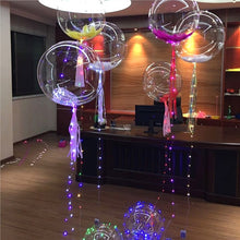LED Colorful Fairy Light Up Balloon Helium Air Inflatable Ballon Transparent Glow