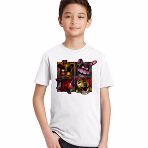 Five Night At Freddy boys t-shirt children cartoon clothing kids summer
