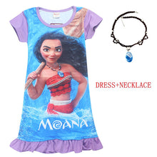 Pretty Hawiian Character Print Dresses with Necklace Included