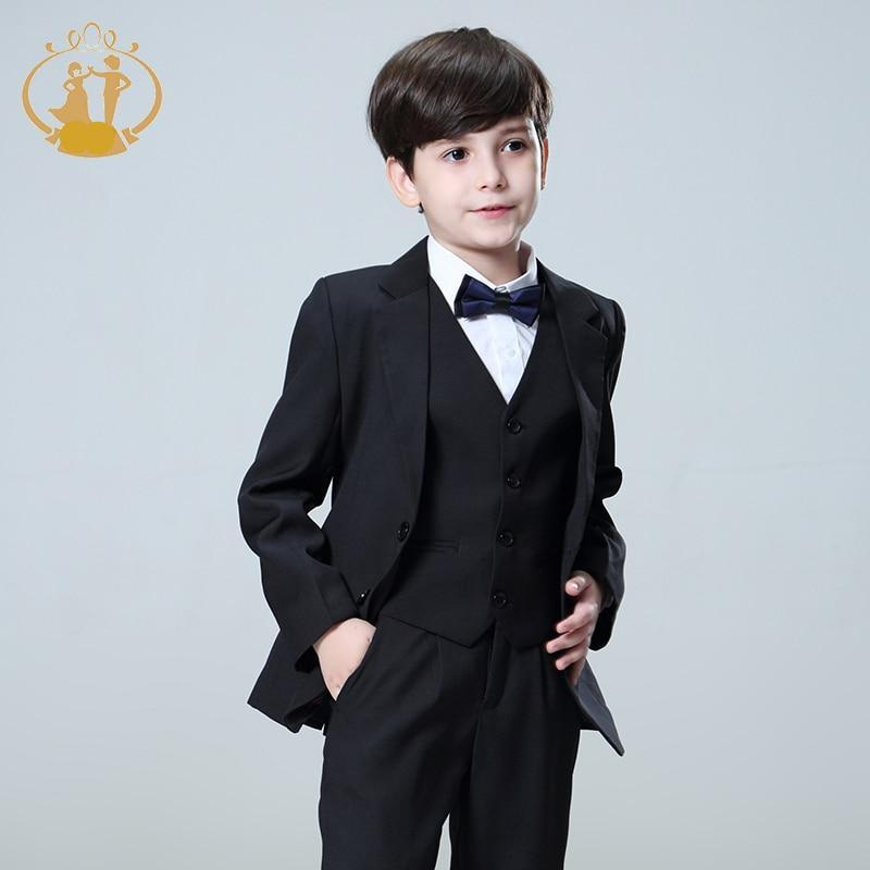 Handsome 5 Pcs/Set Boys Suit
