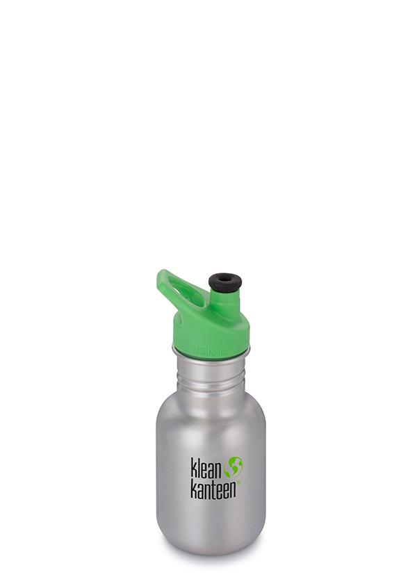 Klean Kanteen Kid Classic Sport Water Bottle in 355ml Brushed Stainless Colour Sport Cap