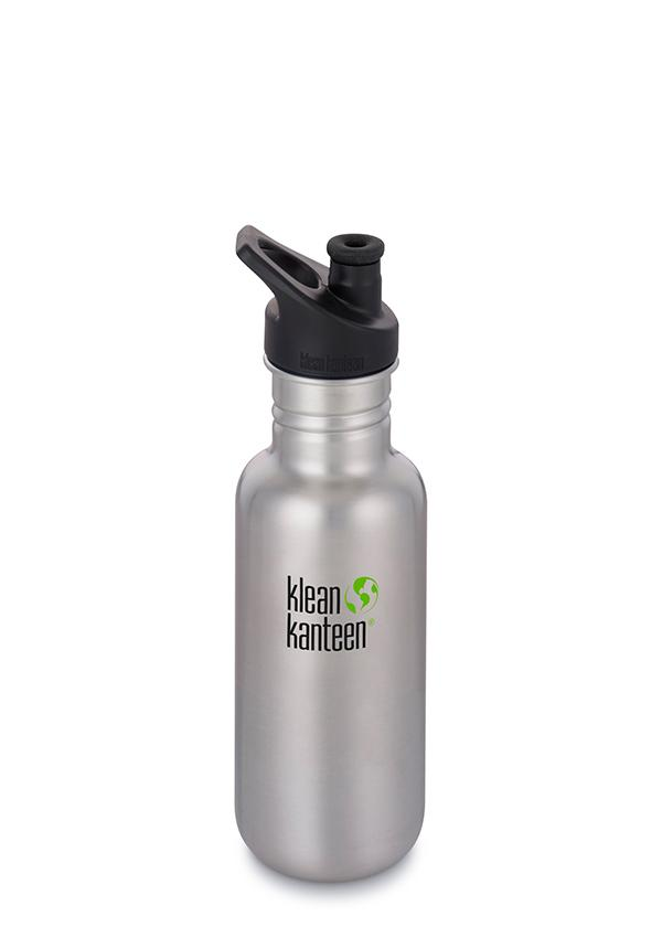 Klean Kanteen Classic 532ml/18oz in Brushed Stainless colour