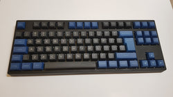 DSA Keycap Set - Black and Blue - Mechbox