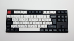 DSA Keycap Set - Black and White - Mechbox