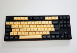 DSA Keycap Set - Black and Cream
