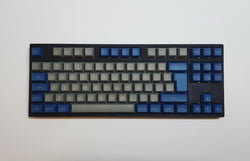 DSA Keycap Set - Blue and Grey - Mechbox