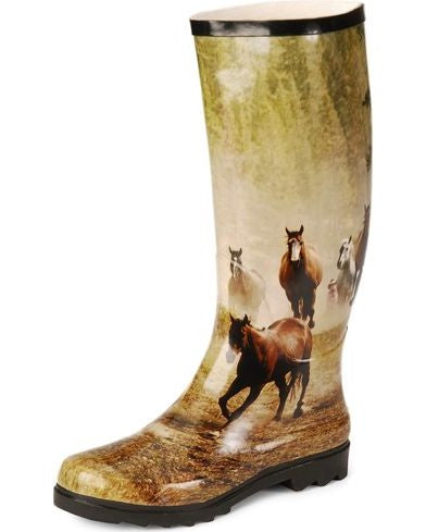 Smoky Mountain Running Horse Women's Rain Boots