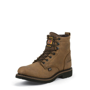 Justin Men's Wyoming Worker II Lace-Up Waterproof Work Boots