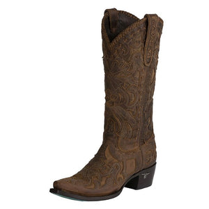 Robin by Lane Leather Inlay Western Boot