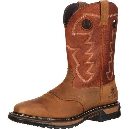 Rocky Ride Waterproof Pull-On Work Western Boot