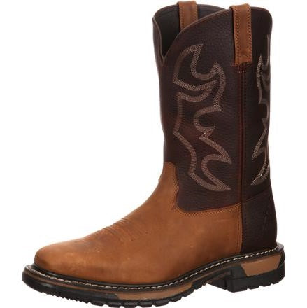 Rocky Original Ride Steel Toe Wellington Boot