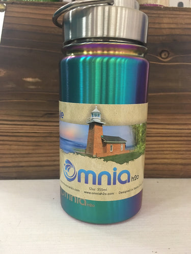 12 oz Omnia Water Bottle - RAINBOW