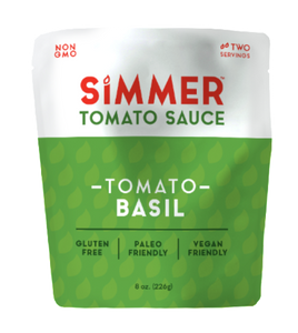 Simmer Tomato Cooking Sauce - Tomato Basil - Case of 6