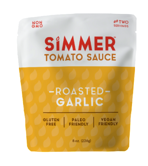 Simmer Tomato Cooking Sauce - Roasted Garlic - Case of 6