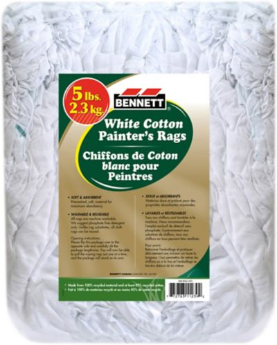 Bennett Pack of White Cotton Rags, 5-lb
