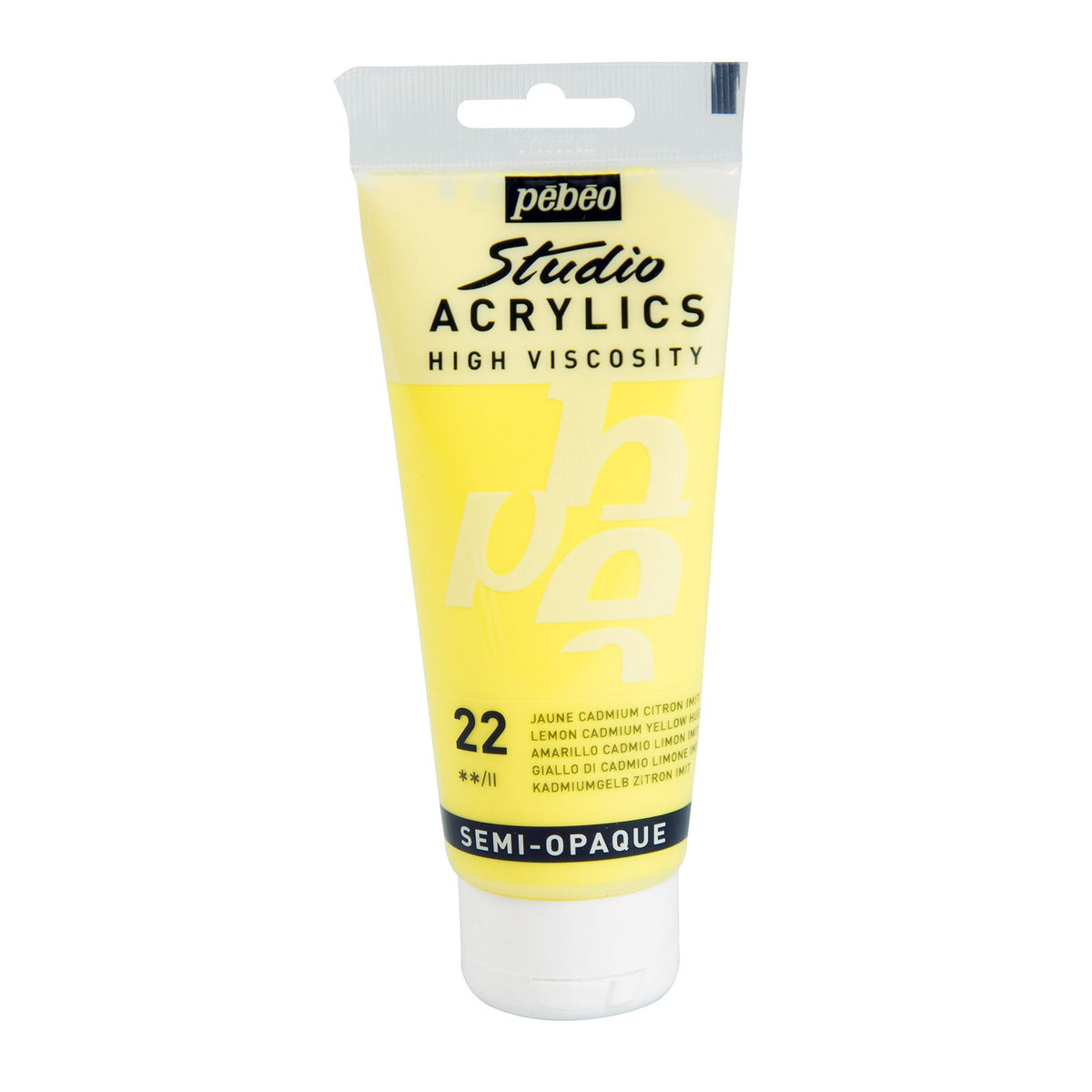 Pébéo Studio Acrylics 100 ml. - 22 Lemon Cadmium Yellow
