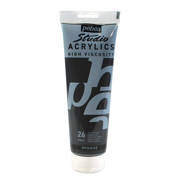 Pébéo Studio Acrylics 100 ml. - 26 Mars Black