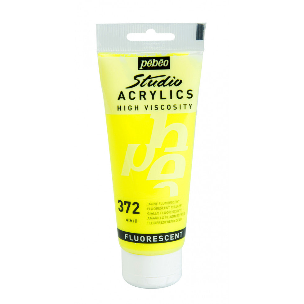 Pébéo Studio Acrylics 100 ml. - 372 Fluorescent Yellow