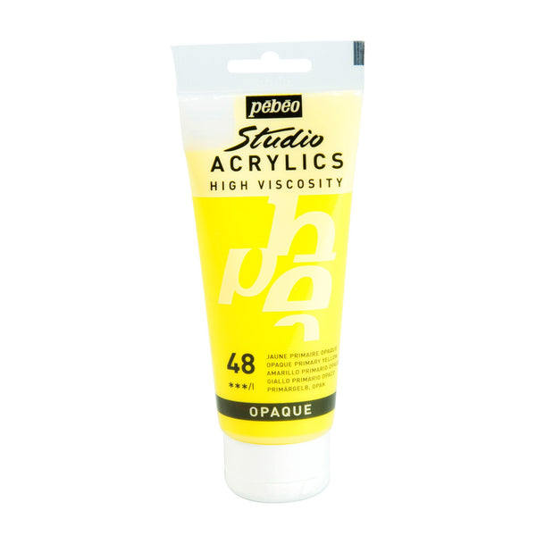 Pébéo Studio Acrylics 100 ml. - 48 Opaque Primary Yellow