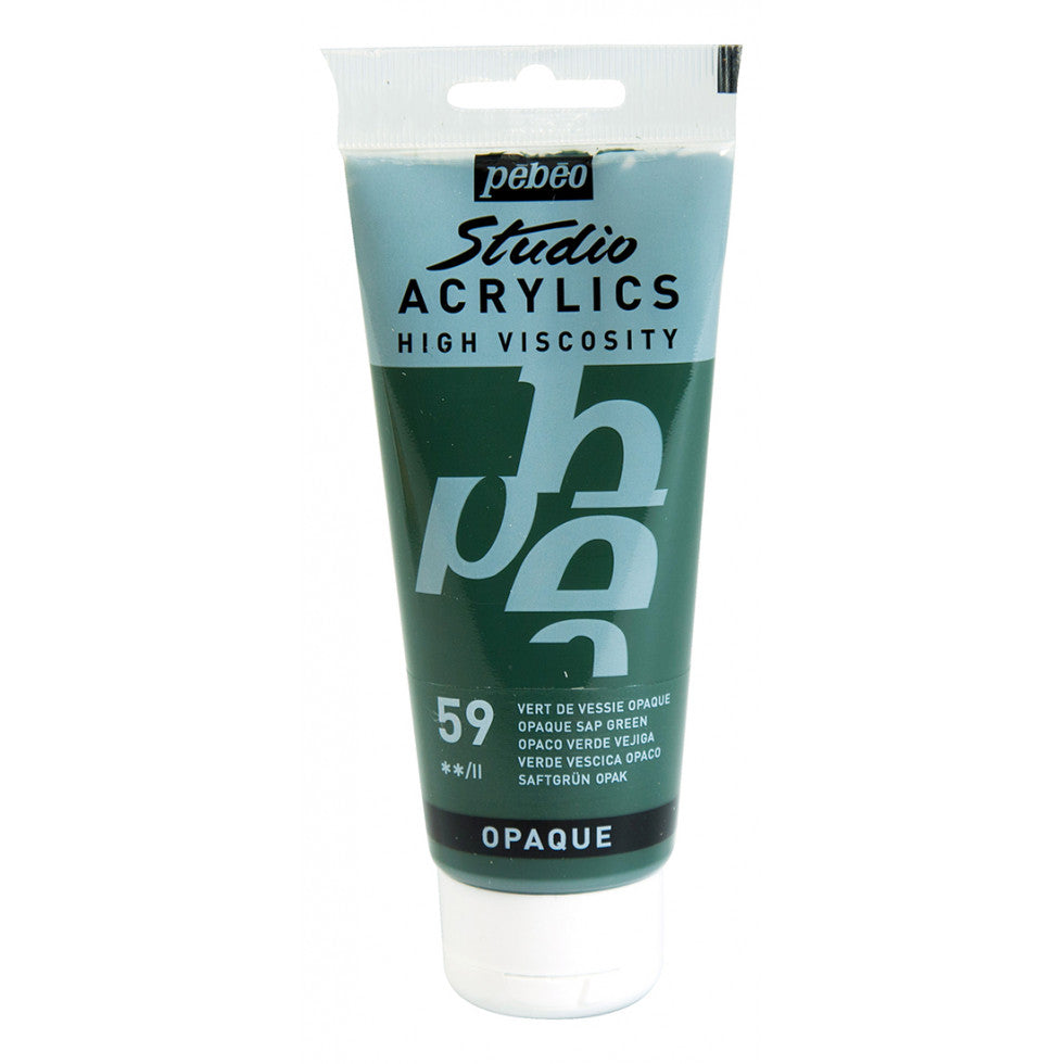 Pébéo Studio Acrylics 100 ml. - 59 Opaque Sap Green