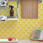 Citrus Scallops Wall Stencil