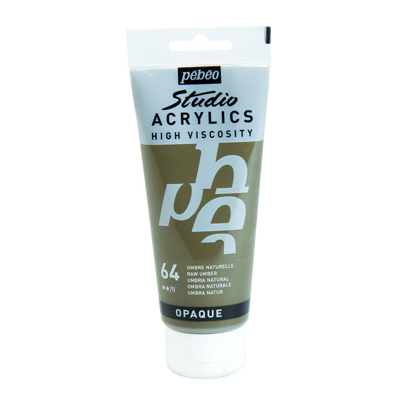Pébéo Studio Acrylics 100 ml. - 64 Raw Umber