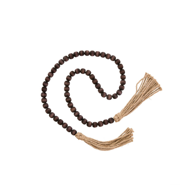 Tassel Prayer Beads Brown