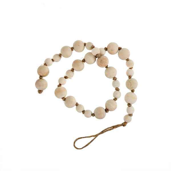 Wooden Prayer Beads - Natural