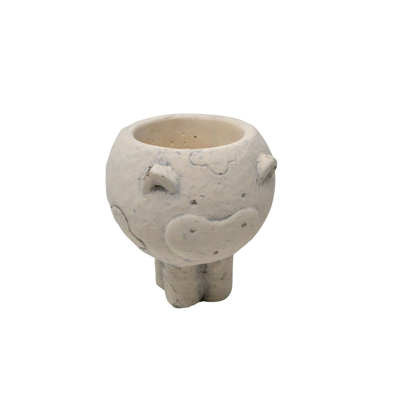 Concrete cow pot