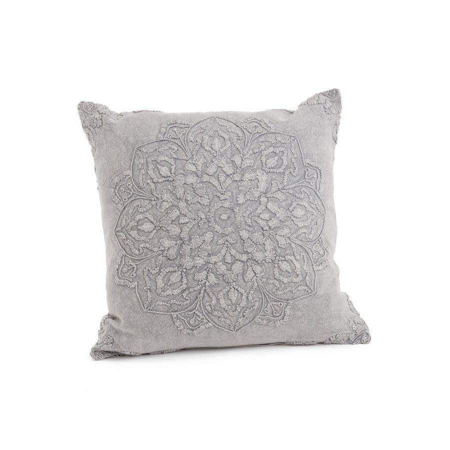 Grey beauvillon cushion