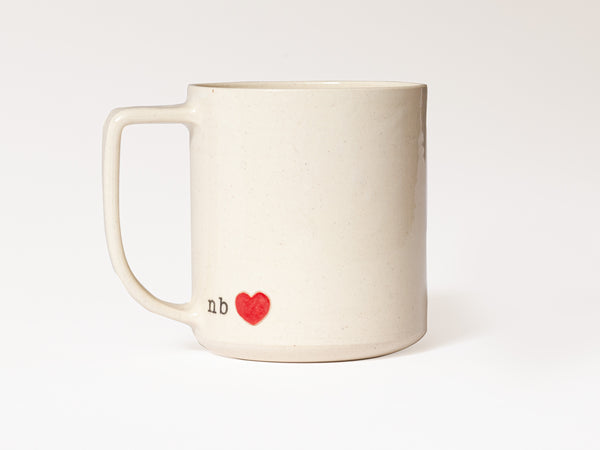 NB love - JAW Pottery (Red Heart)