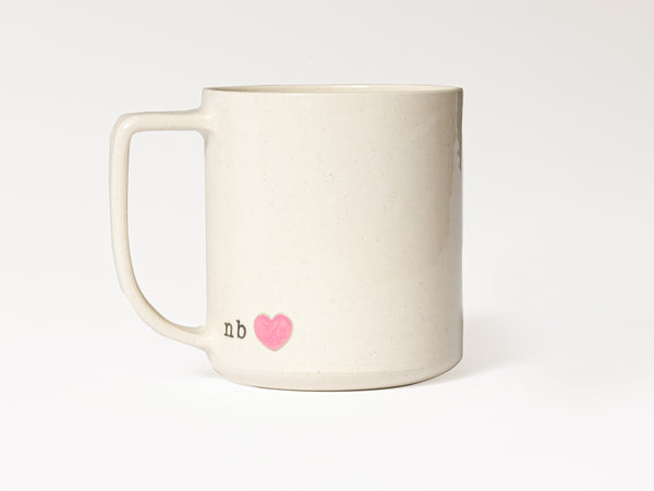 NB love - JAW Pottery (Pink Heart)