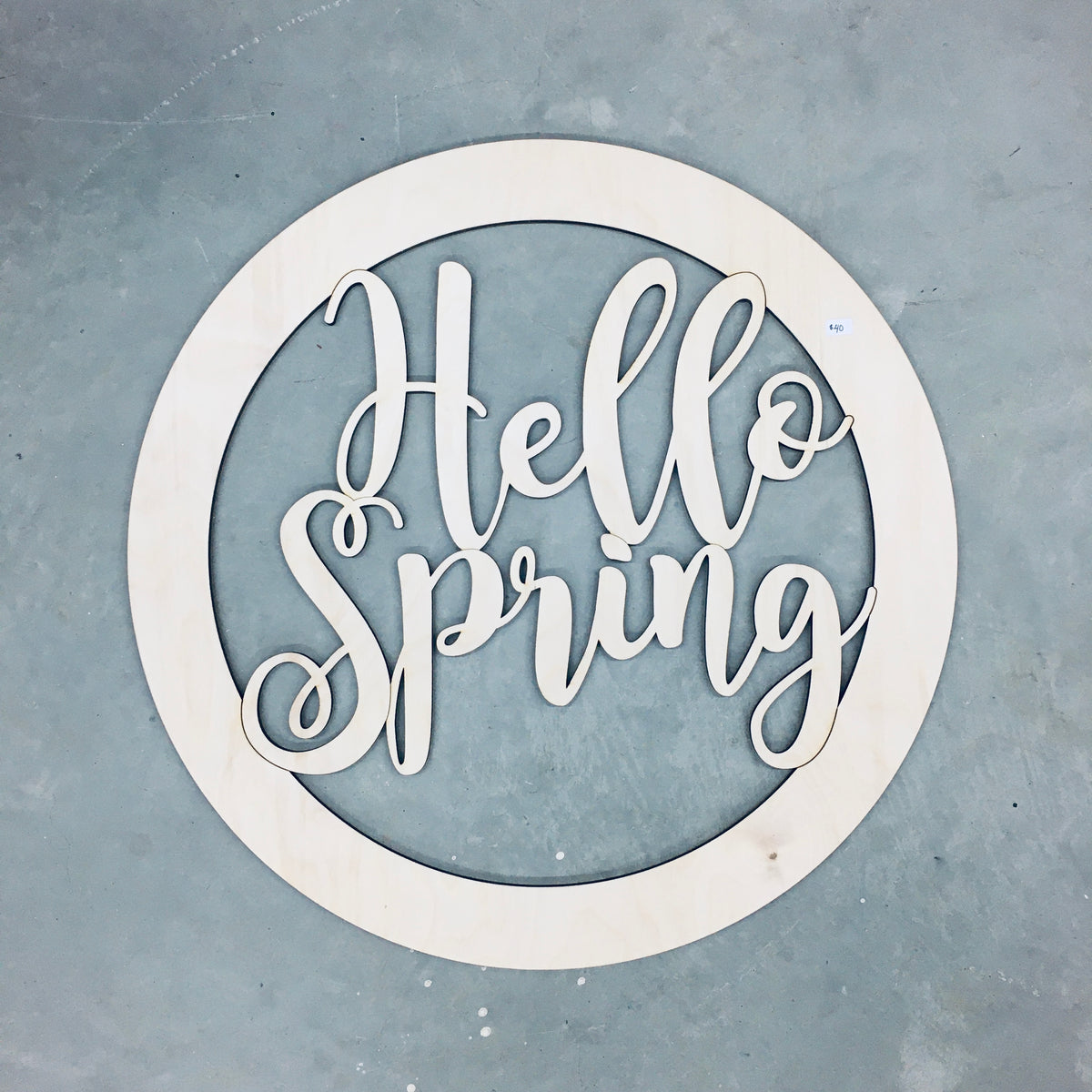 Door Wreath - Hello Spring