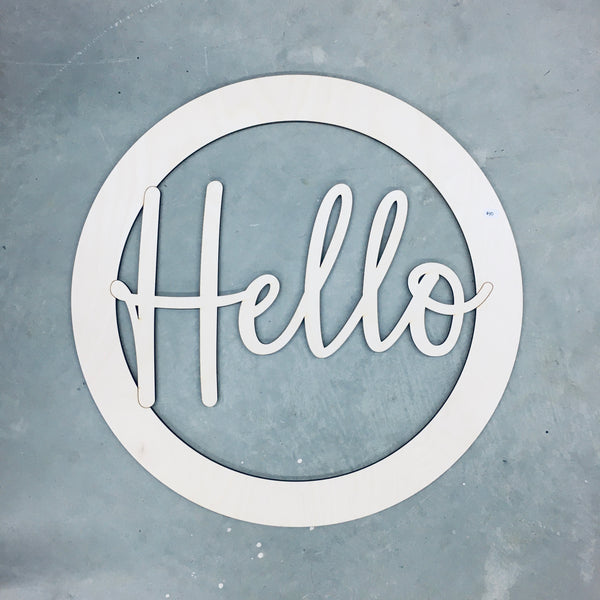 Door Wreath - Hello