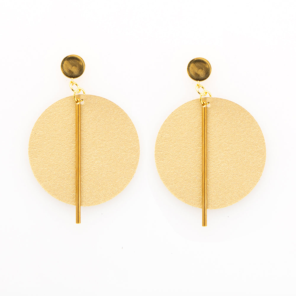 Goldie - Leather Circle Earring