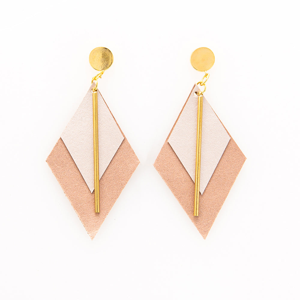 Rosie - Leather Diamond Earring