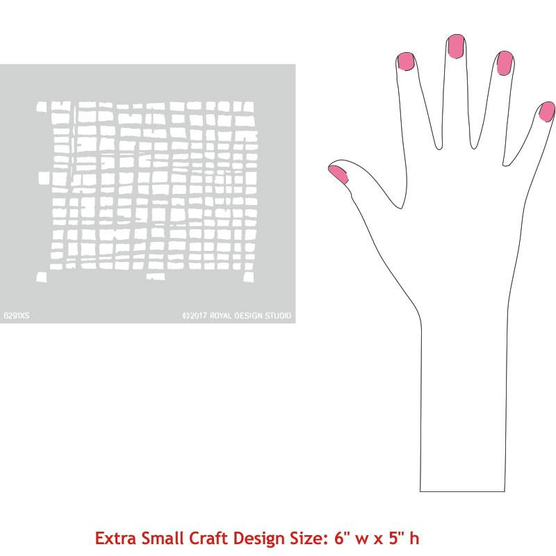 Loose Weave Craft Stencil