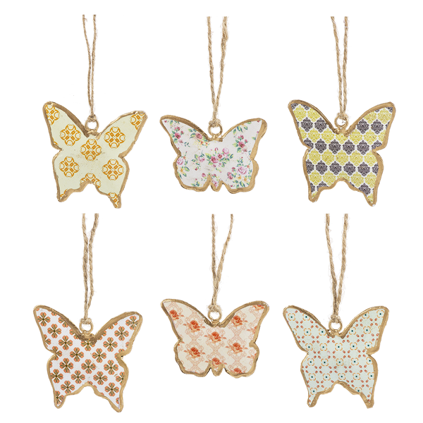 Vintage Inspired Butterfly Ornaments