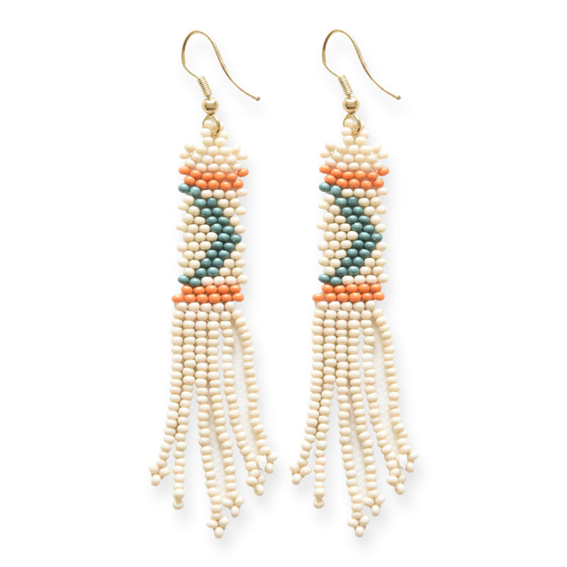 Mae - Fringe Seed Bead Earrings