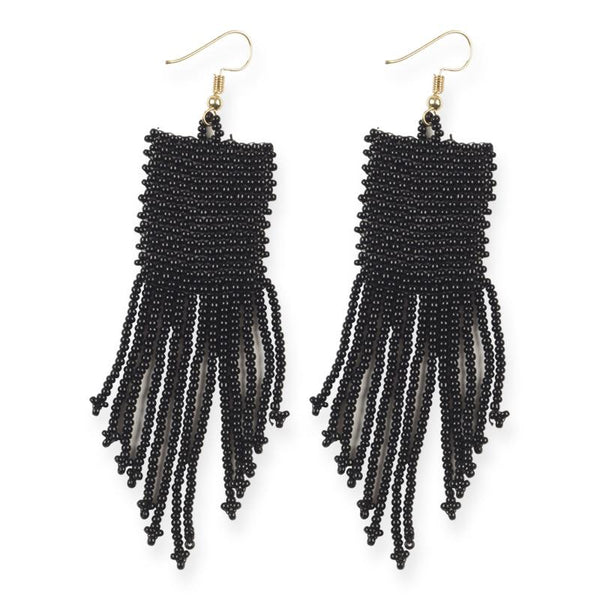 Black Seed Bead Earring