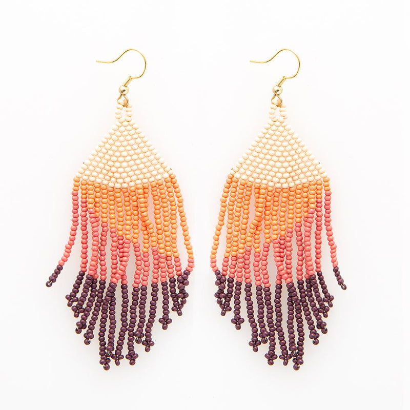 Pink Ombre Seed Bead Earring